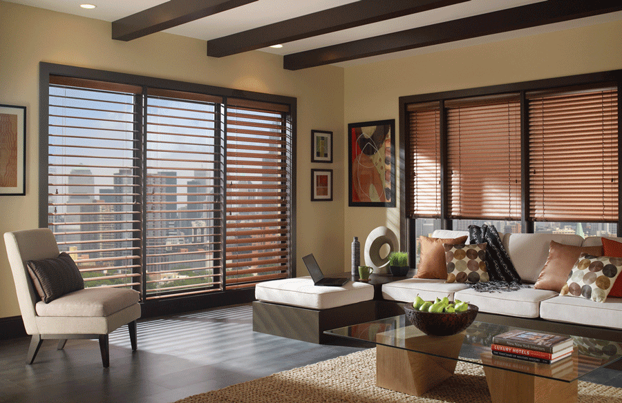 What s out there window coverings for your doors and - Living room window treatments for large windows ...