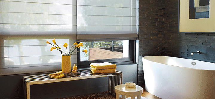 Bathroom window coverings what s important skyline for What s new in bathrooms 2015