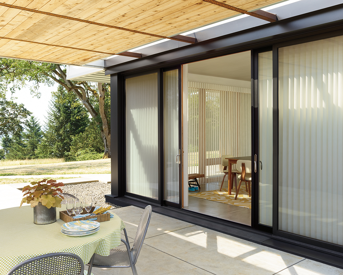 Sliding Door Coverings : French door shades options you ll love skyline window