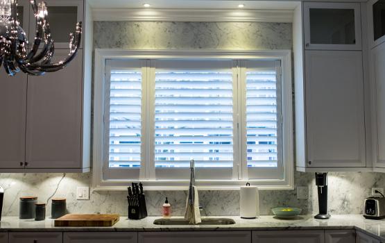 Hunter Douglas shutters kitchen shutters Hindsdale 60521