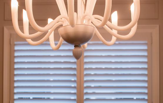 Hunter Douglas shutters dining room plantation shutters La Grange 60525