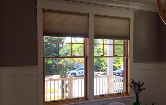 Hunter Douglas honeycomb shades for living room Skyline Window Coverings window treatments Portland 97201