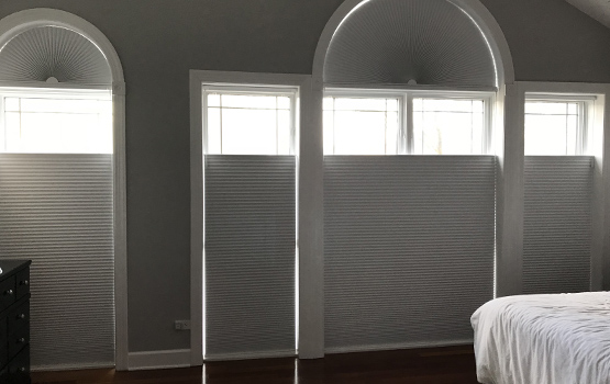 custom window treatments for arched windows Chicago 60657