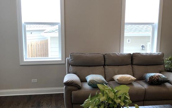 bare windows in chicago living room