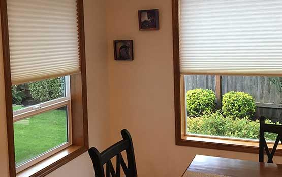Hunter Douglas cellular shades in Vancouver WA home