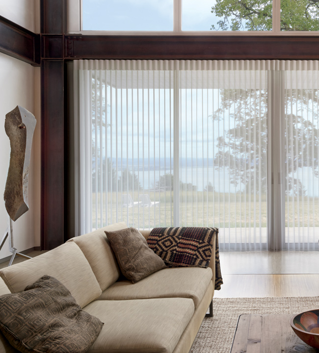 Floor to ceiling blinds shades hunter douglas large - What are floor to ceiling windows called ...