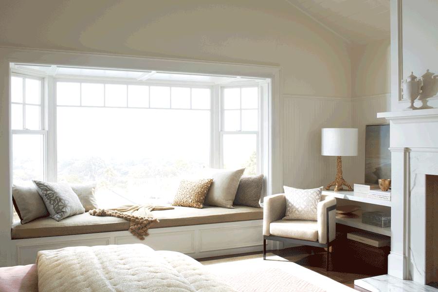 Bare Windows Before Bedroom Hunter Douglas Vignette Roman