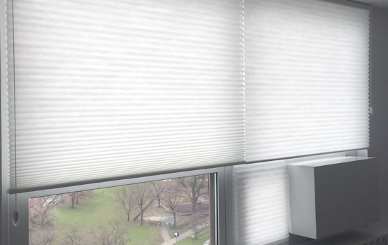 top down bottom up duette honeycomb shades Hunter Douglas Chicago 60611