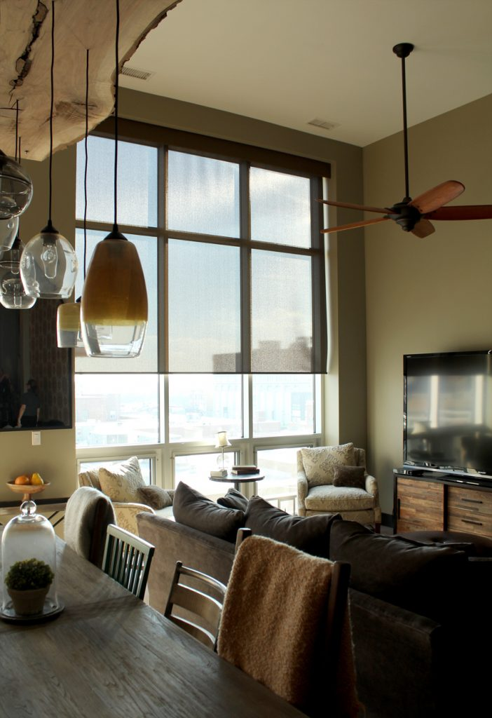 see through screen shades on floor to ceiling windows in Chicago IL