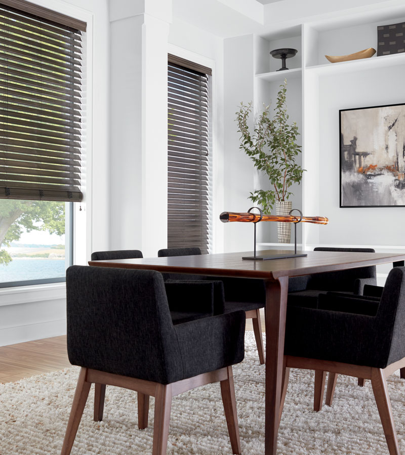 remote control blinds in Naperville IL dining room