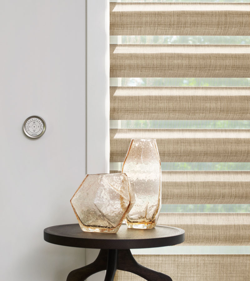 pirouette shades with gold fabric in Vancouver WA