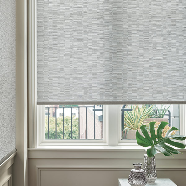 light filtering roller shades in corner of home in Chicago IL