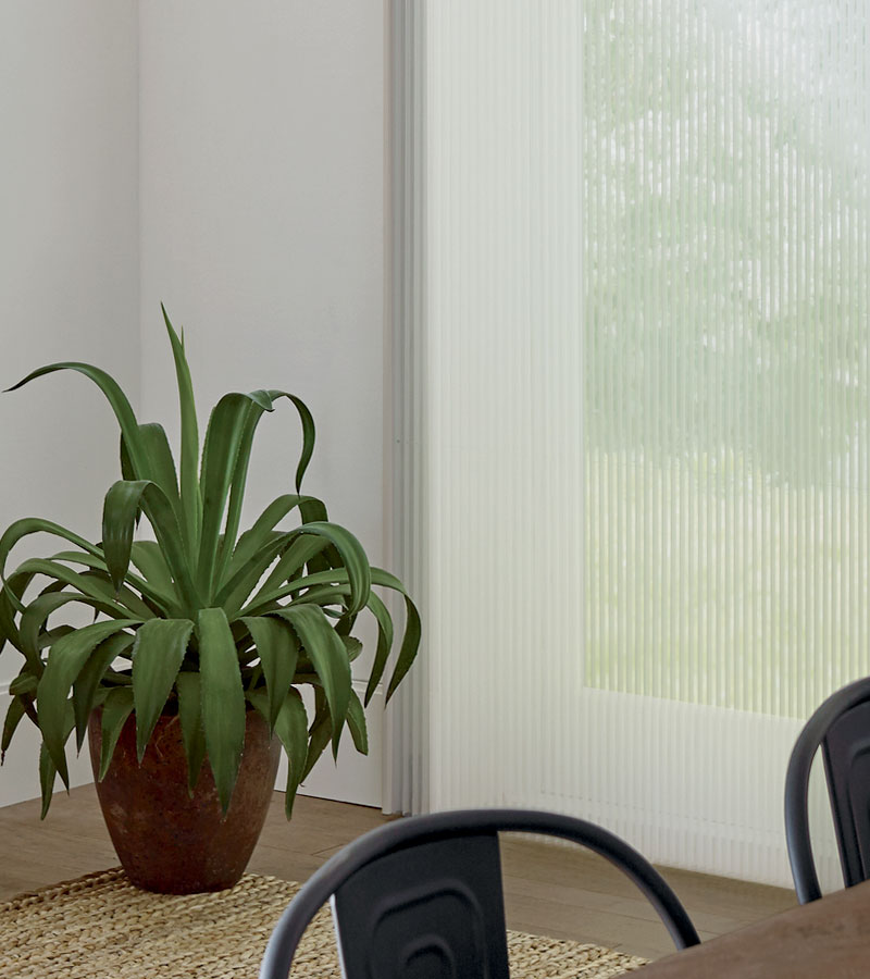 vertical honeycomb shades for glass doors in Camas WA