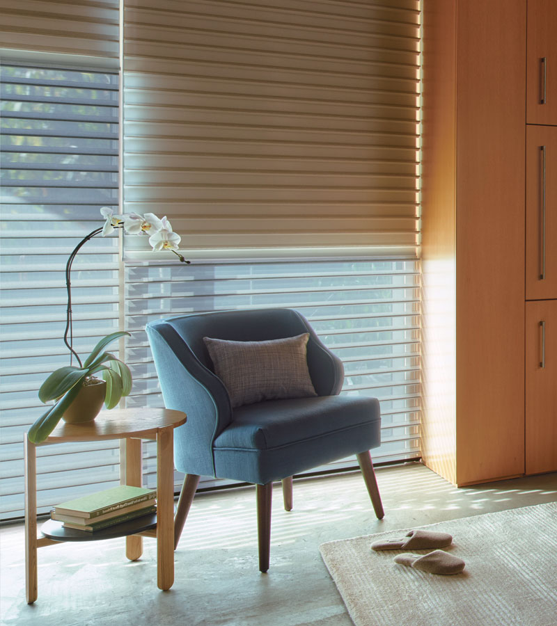 duolite dual shades window covering solutions with sheer shades in Chicago IL