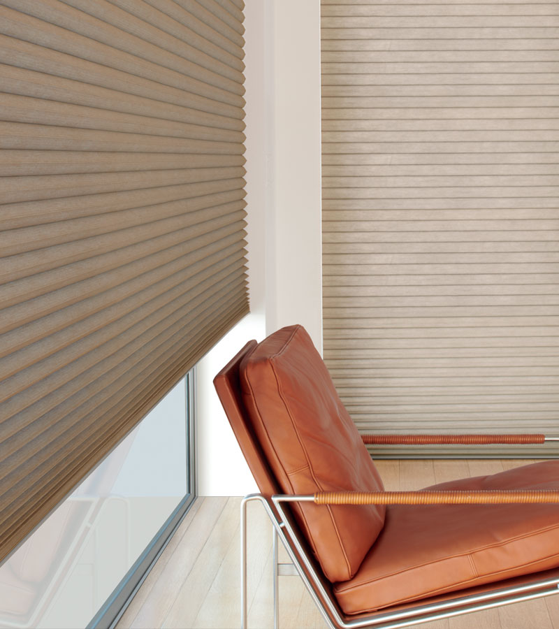 highest energy efficient shades duette honeycomb shades on large windows in Chicago IL home