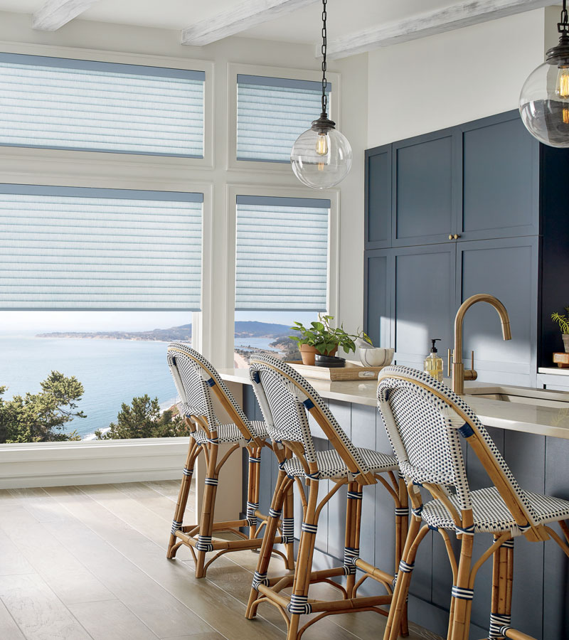 cellular roller shades in kitchen for energy efficiency in Vancouver WA home