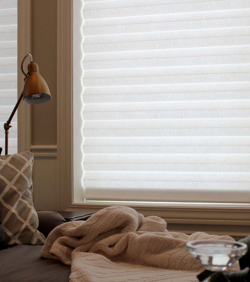 energy efficient roman shades from the solera collection in Chicago 60614