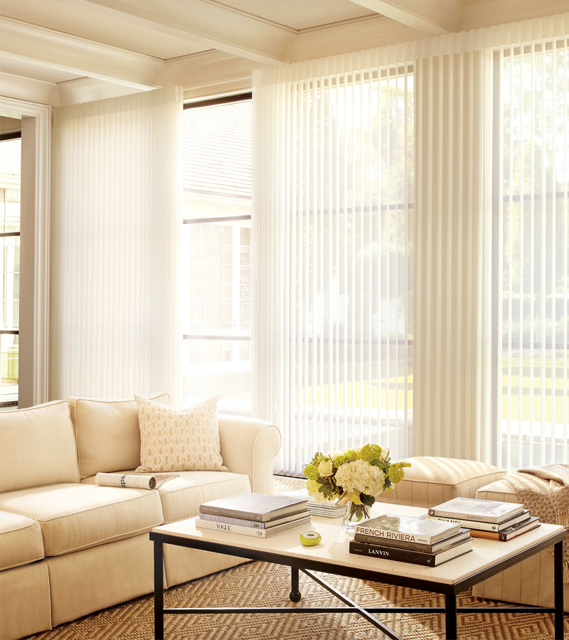 vertical sheer shades for floor to ceiling windows in Naperville IL