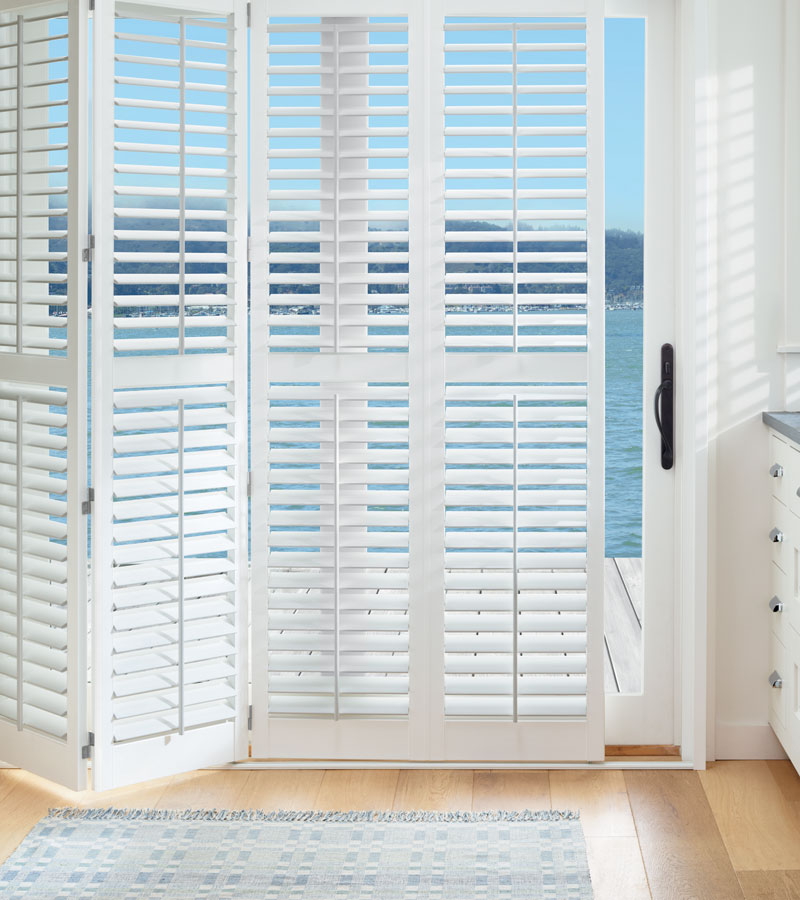 interior shutters for sliding glass door in Hinsdale IL