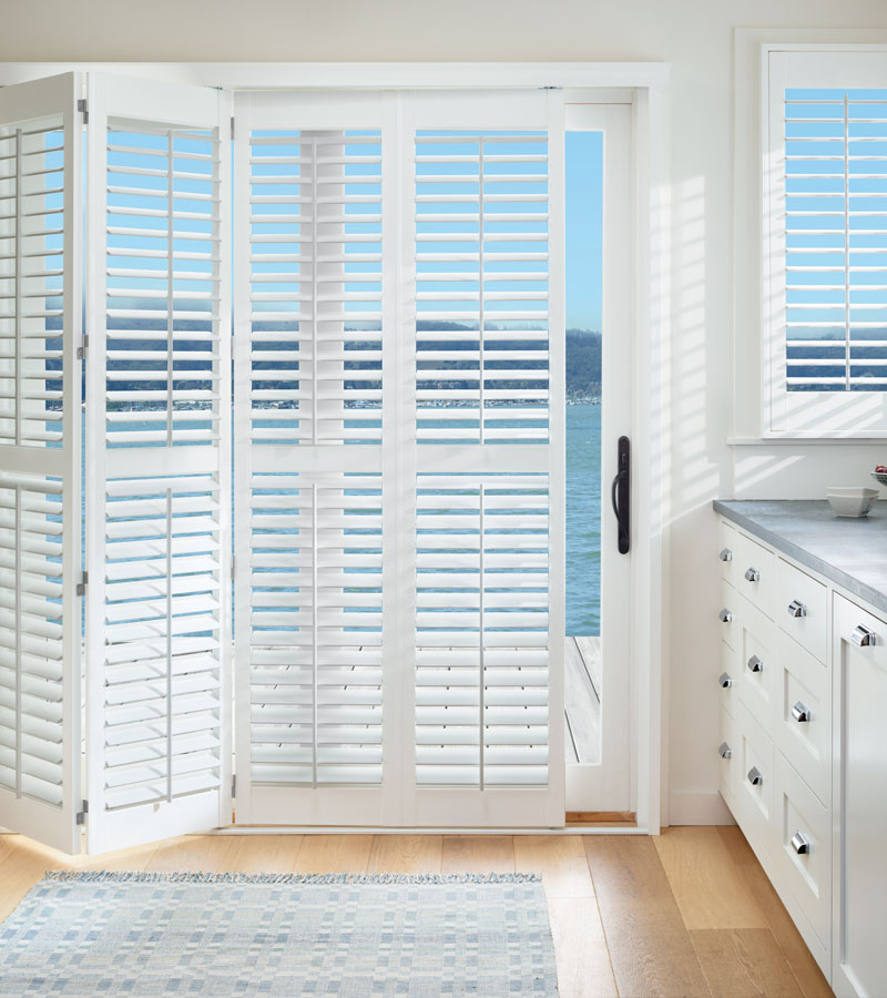 white shutters for sliding glass doors Vancouver WA