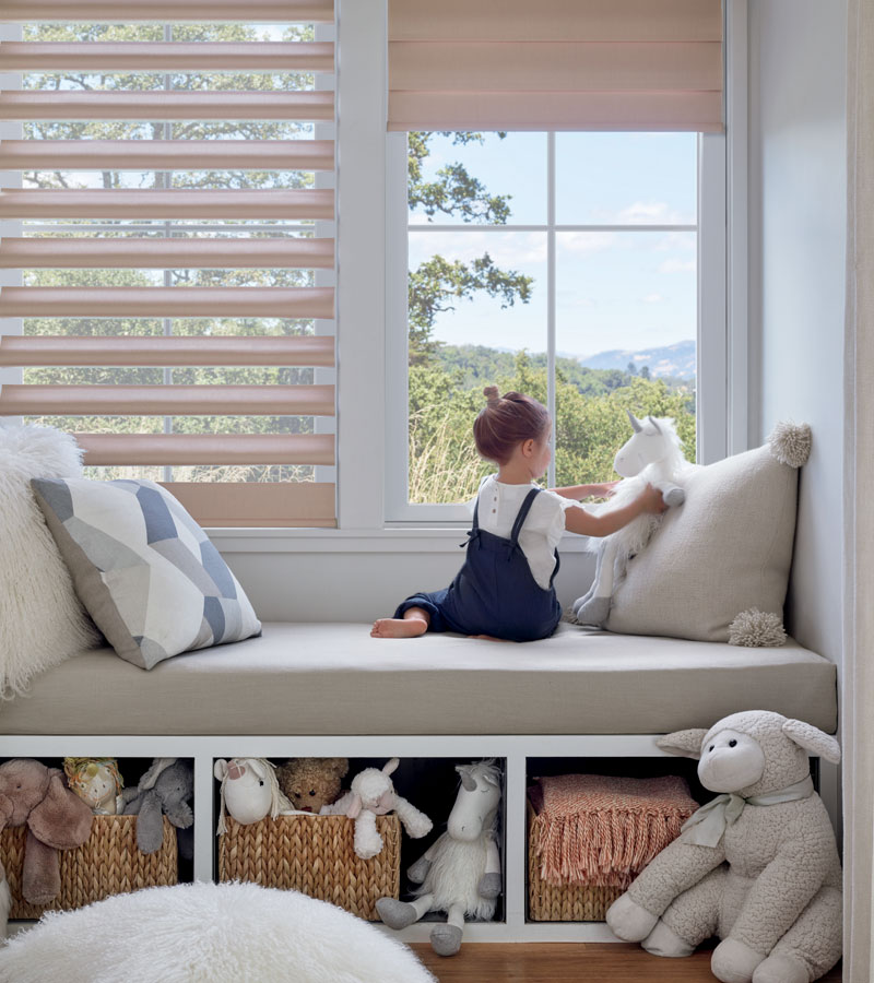 child safe pirouette shades in child's bedroom in Hinsdale IL