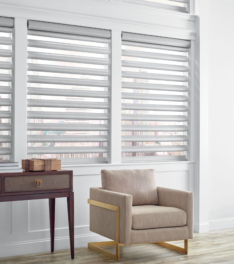 white pirouette shades bring style and solutions Hinsdale IL
