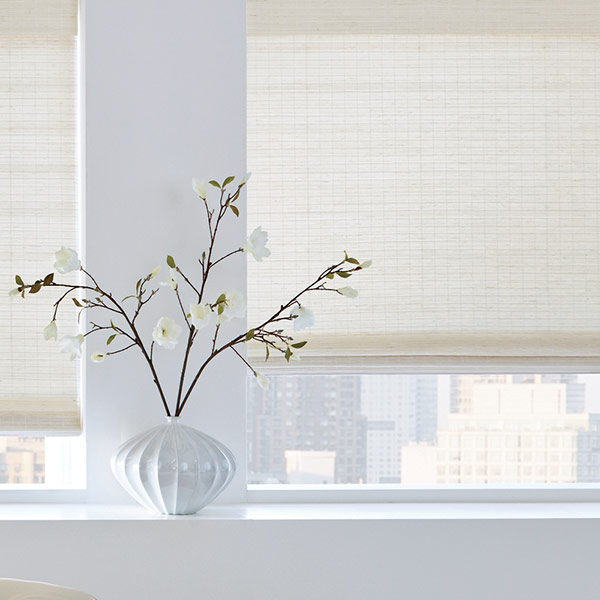 white woven shades for light filtering in Chicago IL