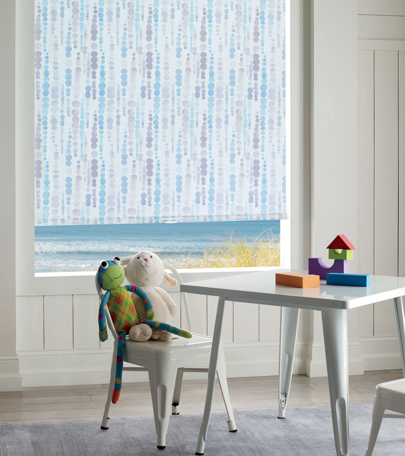 patterned cordless roller shades in Vancouver WA