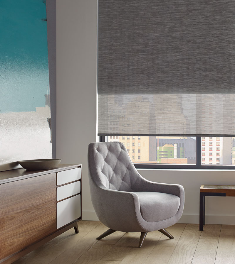dual roller shades for soft light and room darkening solutions in Chicago 60611