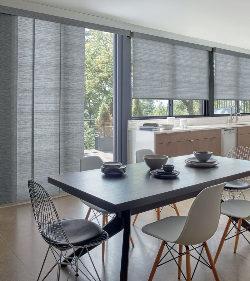 vertical shades with roller shades Chicago 60618