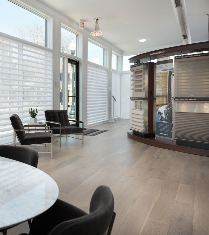 showroom for window treatments located in Lakeview neighborhood in Chicago