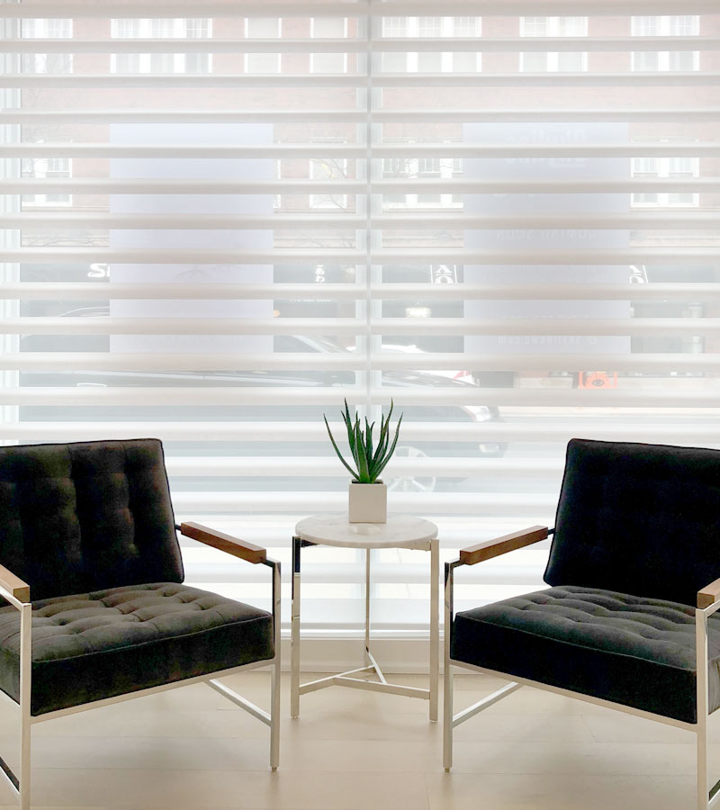 window covering showroom in Lakeview neighborhood of Chicago IL