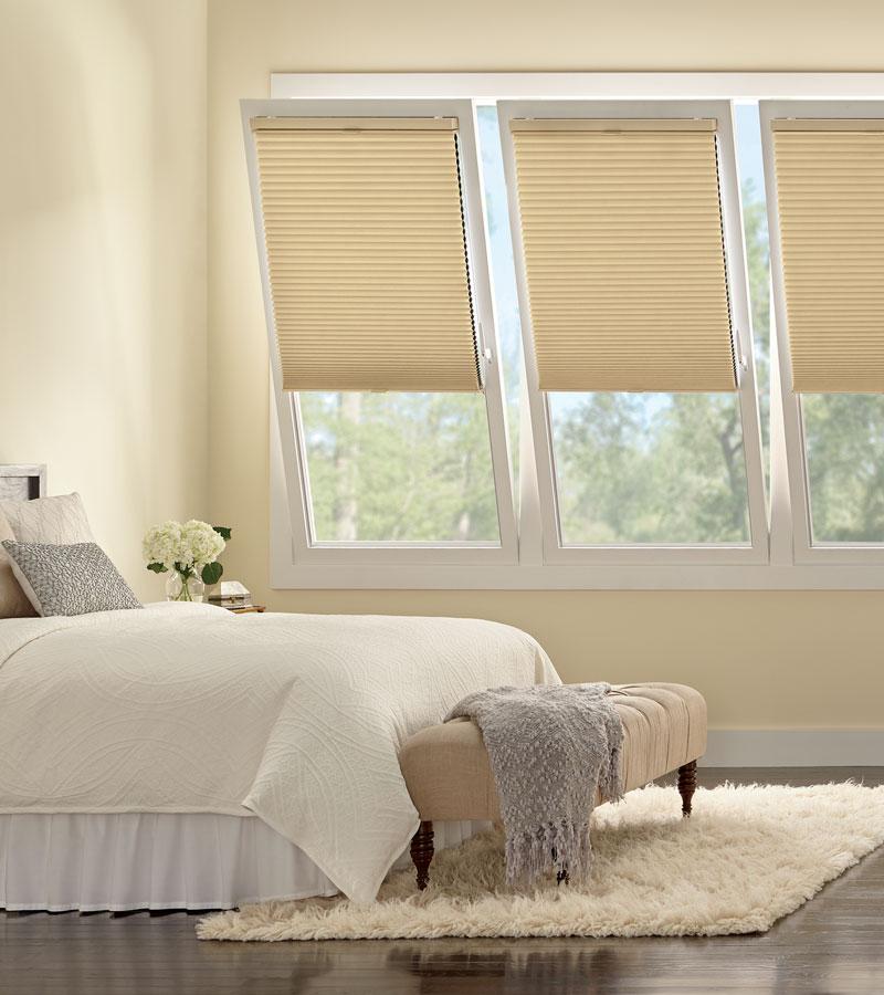 honeycomb shades on tilt turn windows in Portland OR