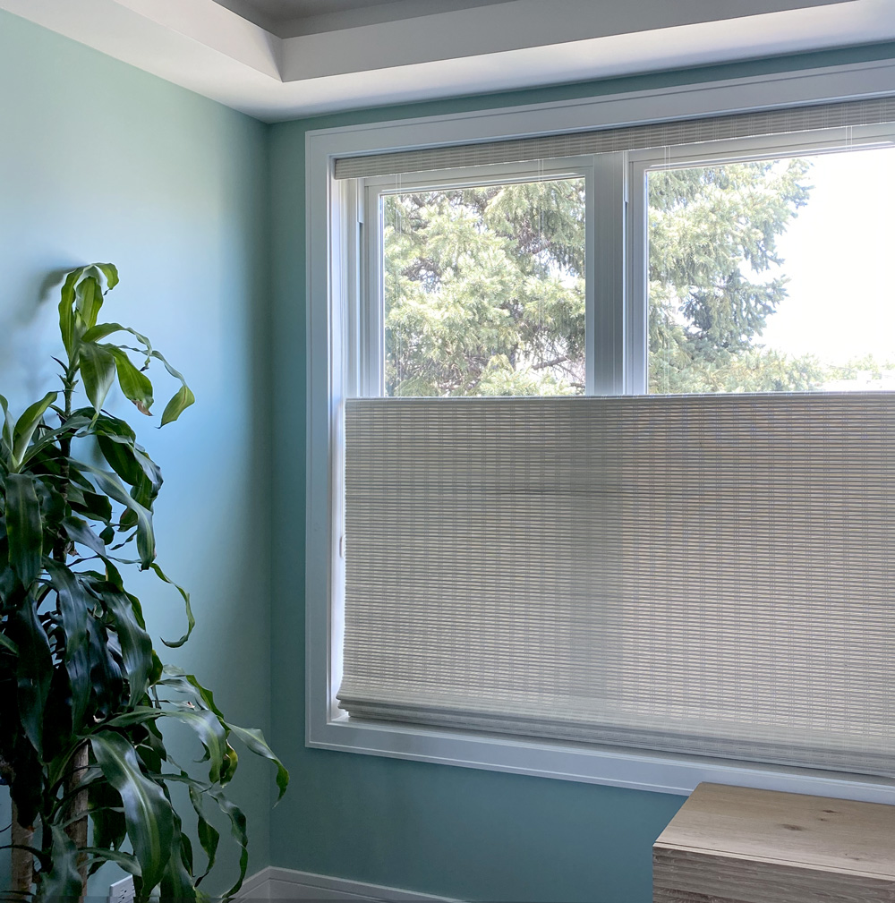top down wooden woven shades in Vancouver WA