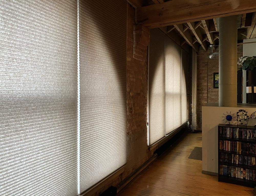 honeycomb shades arched windows