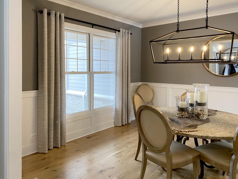 custom drapery dining room