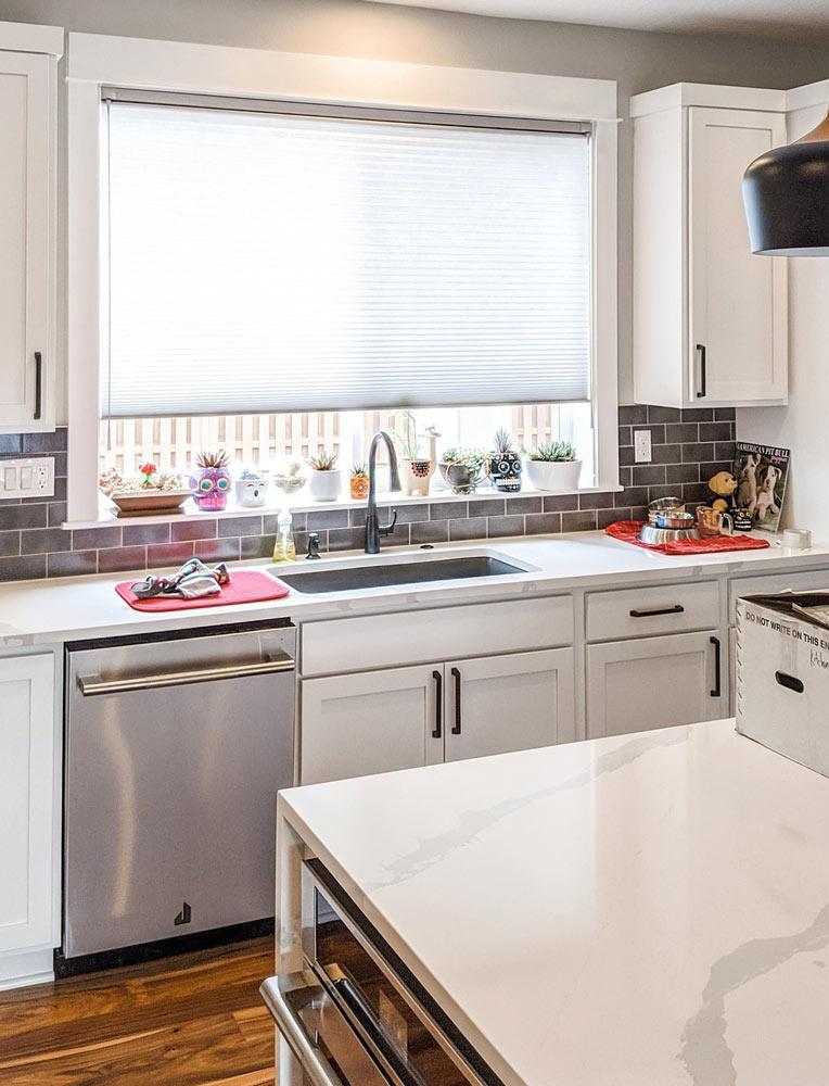 duette honeycomb shades kitchen