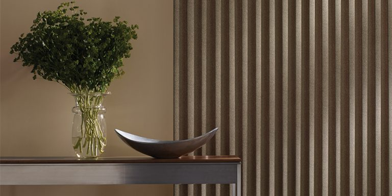 fabric vertical shades for room darkening details in Chicago IL home