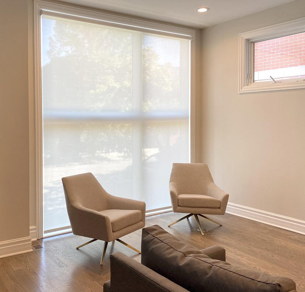 roller shades large windows