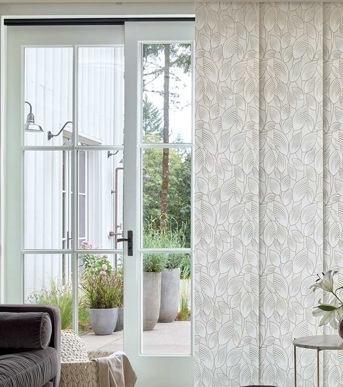 vertical panel track blinds for sliding glass doors in Naperville IL
